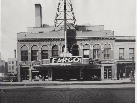 "The Fargo Theatre in 1936. The movie being shown at the time was ""Three Men on a Horse."""