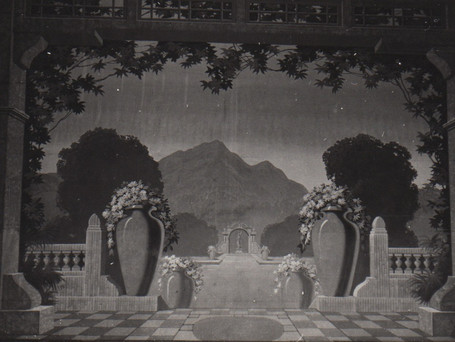 One of the original 1926 hand-painted curtains at the Fargo Theatre. Before the theatre was remodeled into an art deco style in the 1930s, it was a Beaux Arts style that would have blended seamlessly with the front curtain.