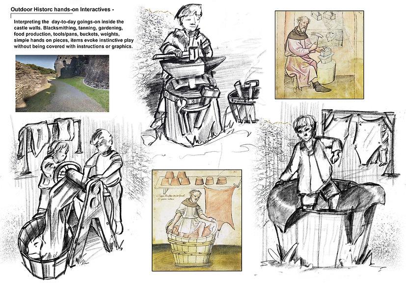 Maze outdoor historic interactive Sheet