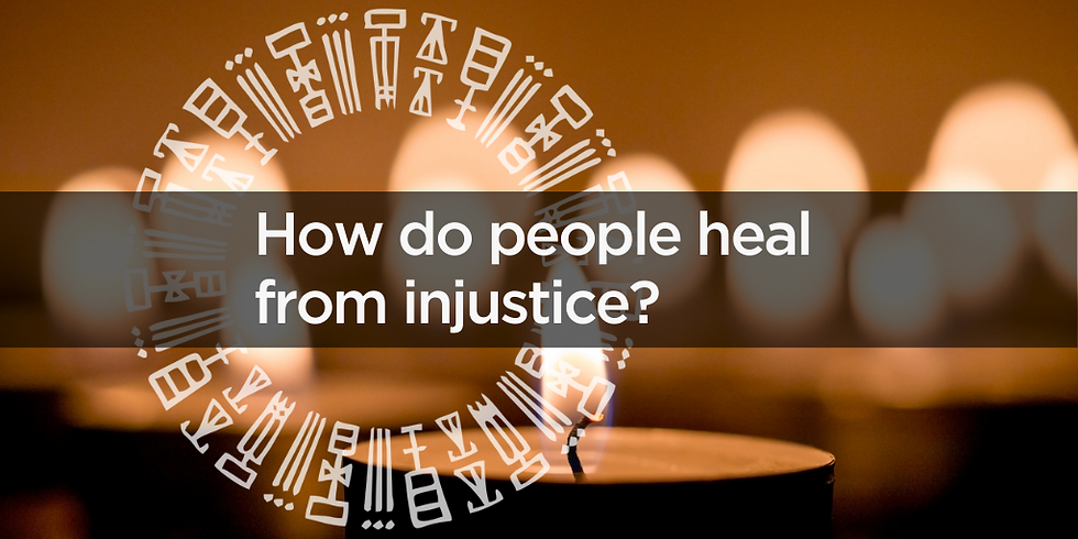 How do people heal from injustice?