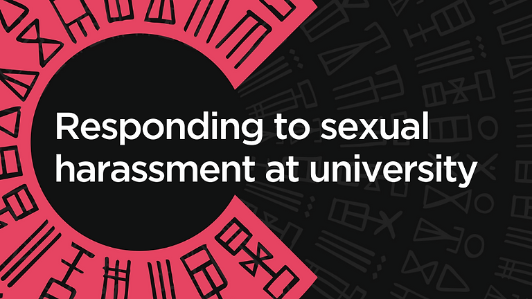 Responding to sexual harassment at university