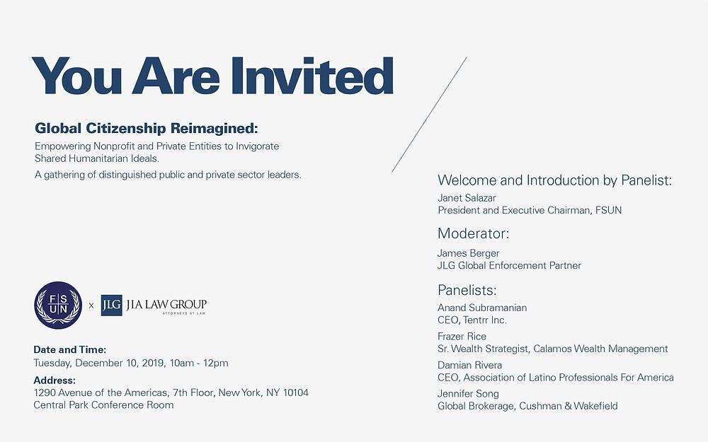 FSUN x JLG Invitation