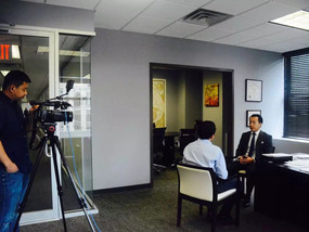 中国中央电视台财经频道就投资移民热点问题专访纽约贾律师