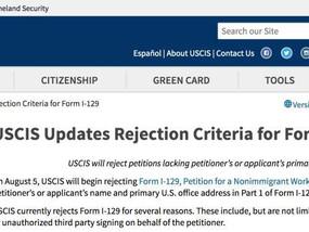 移民局更新H-1B拒绝受理条件,你是否也在其中?