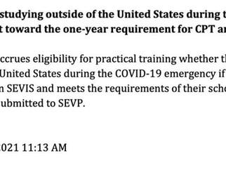 境外上了大半年网课,境内上课时间不足一年,毕业后能申请OPT吗?
