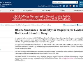 移民局宣布部分RFE和NOID答复期限延长