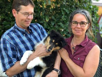 Hector 9 Wochen alt mit seine neue Familie.