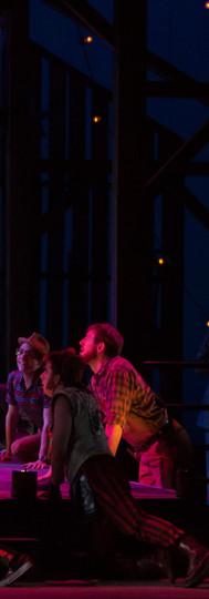 Zerbinetta (Rachel Gilmore) with her Fans
