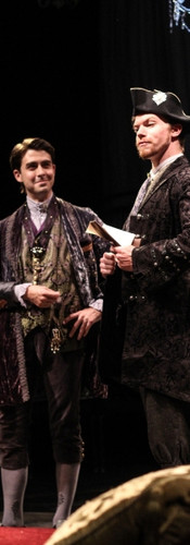 The Vicomte (Paul Hester) and Azolan (Edward McCreery)