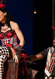 Zerbinetta (Rachel Gilmore) and Harlequin (Carlton Ford)