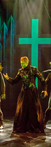 Frollo (Phillip Fletcher) and the Gargoyles