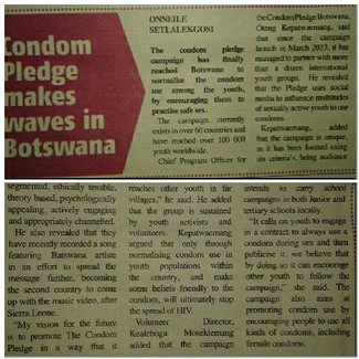 Article in ECHO Botswana!