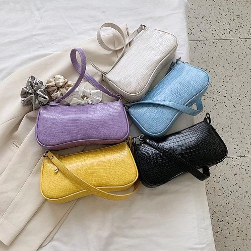 """""""Cassie"""" Alligator Print Shoulder Bag"""