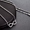 """Thumbnail: """"Infinity"""" Silver Necklace"""