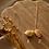 Thumbnail: citrine geode goddess necklace