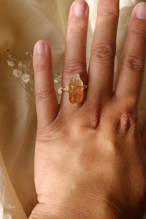 Tangerine Quartz Ring