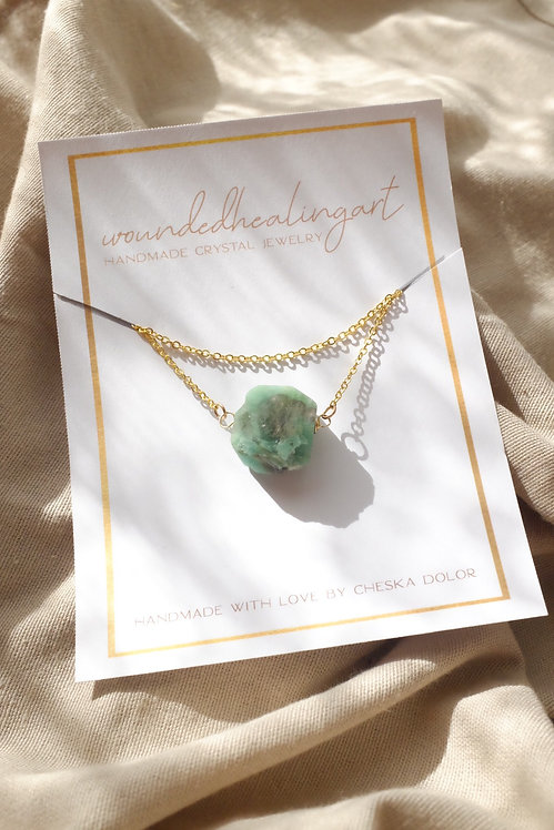 chrysocolla princess necklace
