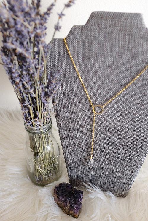 Lariat Necklace - Quartz