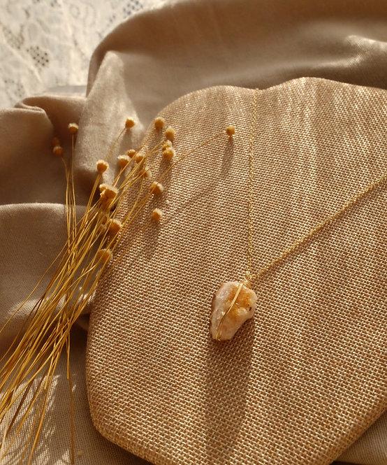 citrine geode goddess necklace