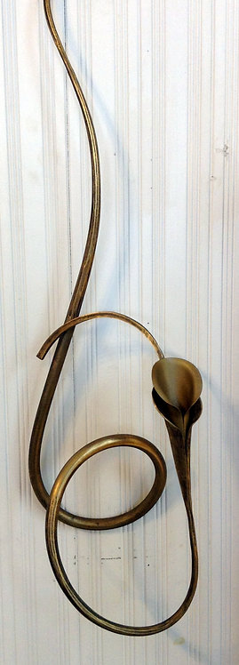 Bronze Calla Lily Wall Candle Holder