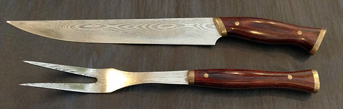 Joe Digangi Damascus Carving Set