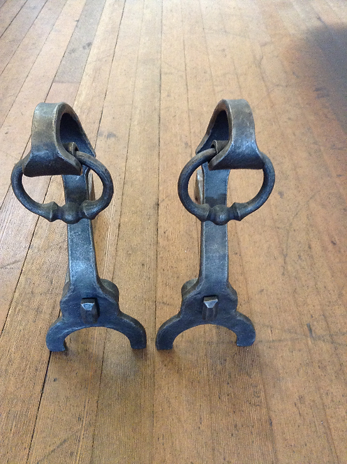 Andirons with Handles