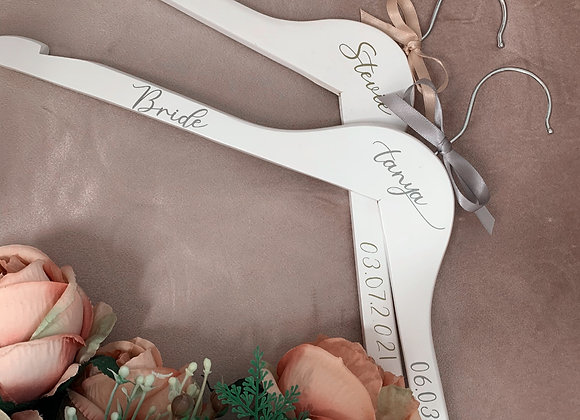 Personalised White Wooden Hanger