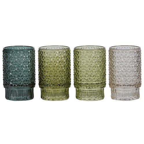 Garden Textured Votives set 4