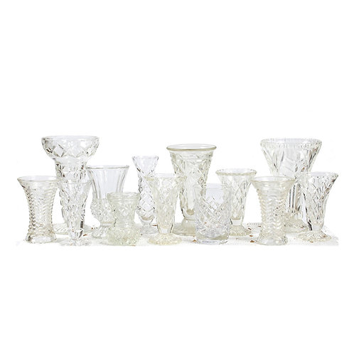 Cut Crystal Glass Vases
