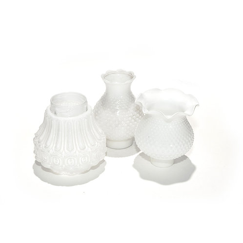 Milk Glass Candle Holder Assorted