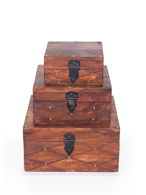 Set of 3 Timber Boxes