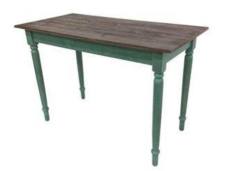 Timber Console Table With Green Legs