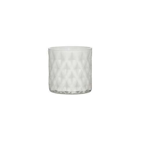 White Diamond Cut Votive