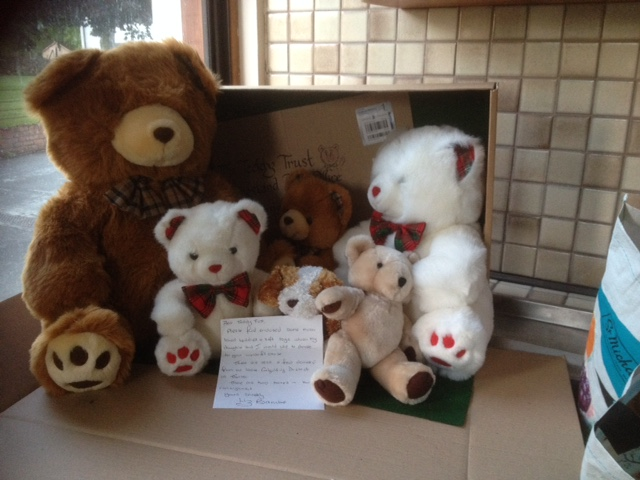 20180625 These friendly teddies were sent by Liz Bamber