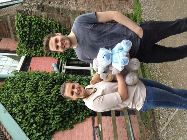 20170521 Anna and Richard arrived with lots of teddies