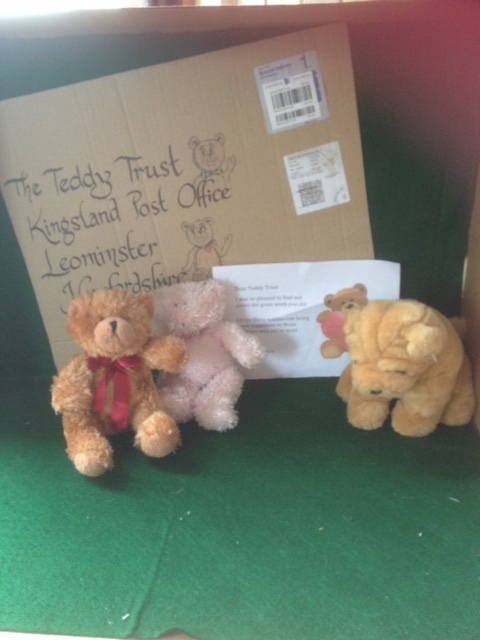 20180411 Some of the lovely teddies sent by Victoria