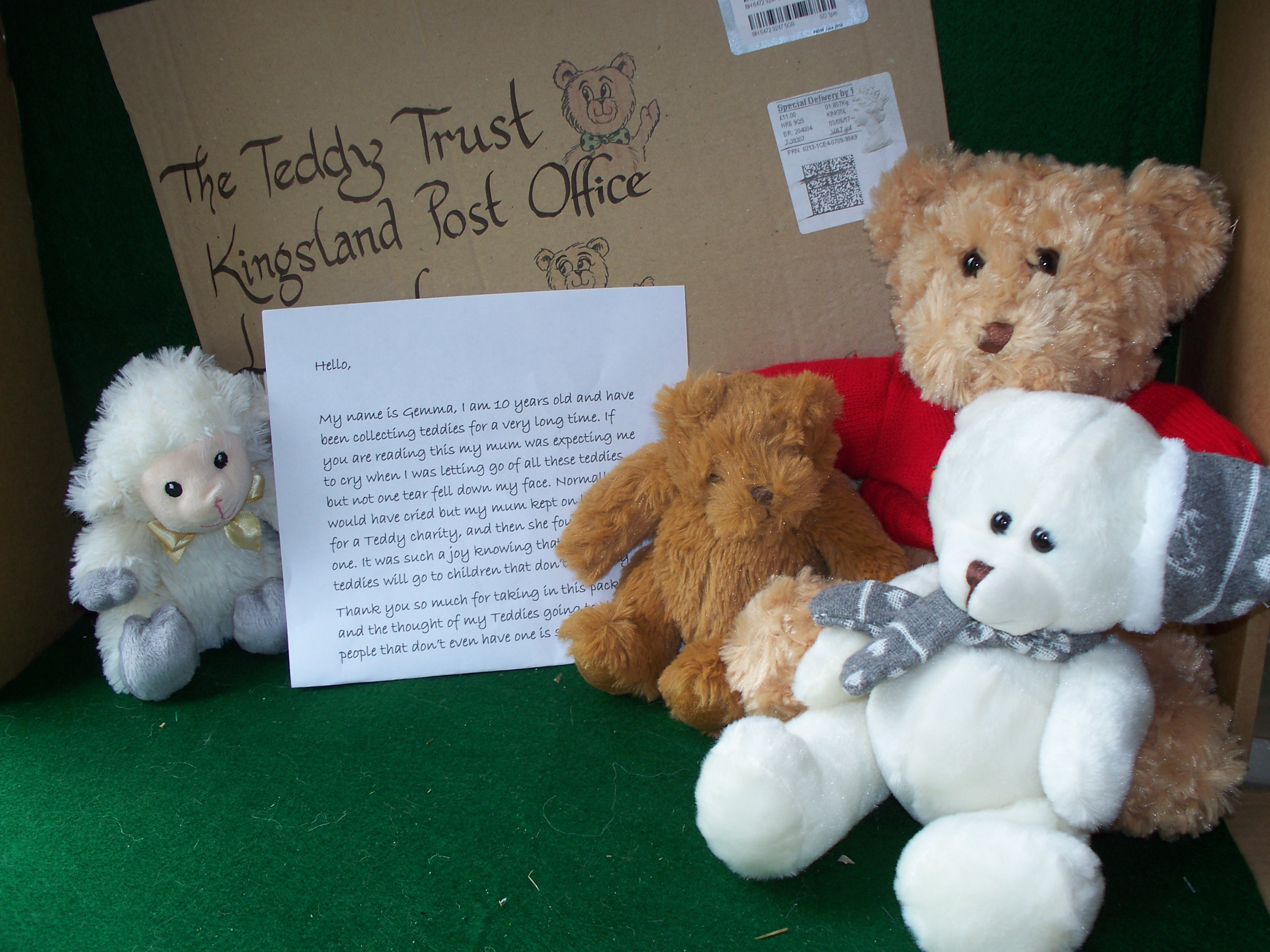 20180620 Thank you Gemma from Surrey for sending us your lovely teddies