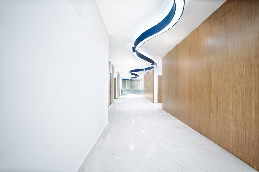Radiology Department SIMC hallway design