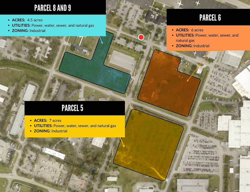 Vero Beach Airport Parcel Map - 5, 6, and 8 and 9.png