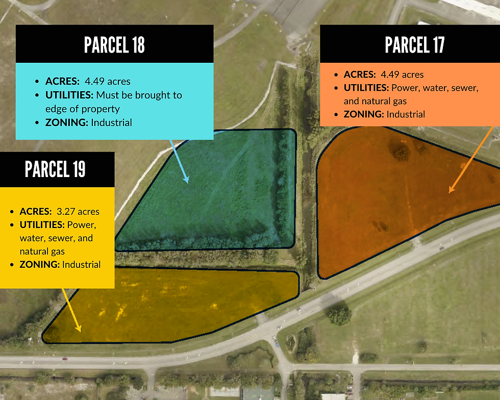 Copy of Vero Beach Airport Parcel Map -  17, 18 and 19.png