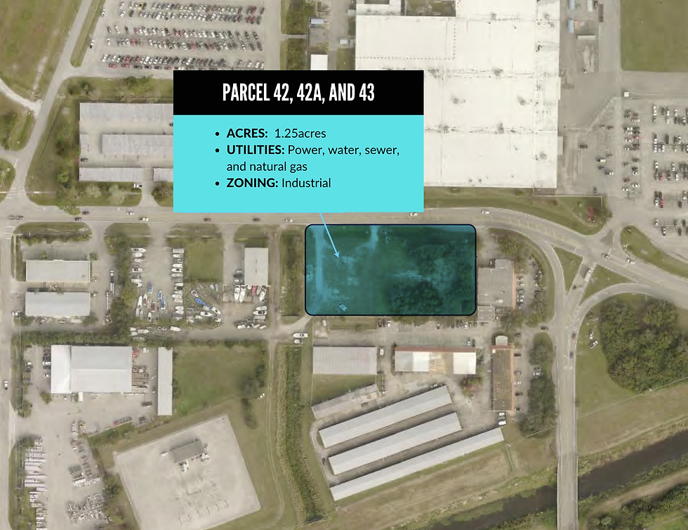 Vero Beach Airport Parcel Map - 42, 42A, and 43 (1).png