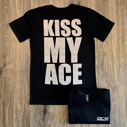 Adult Tee - Kiss My Ace - Black/Grey