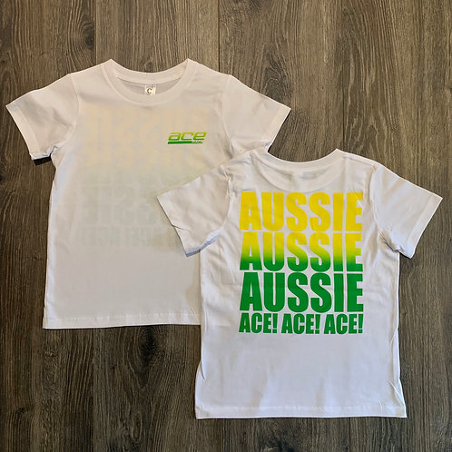 Youth Tee - Aussie Aussie Aussie - White