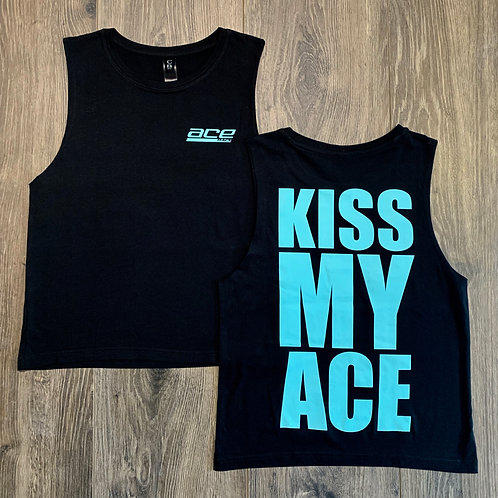 Youth Muscle Tee - Kiss My Ace - Black/Teal