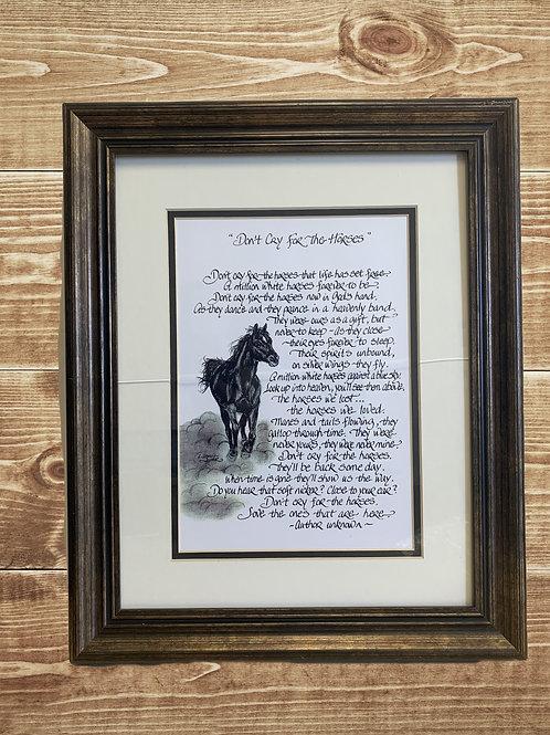 Horse Quote Portrait