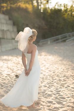 Bride at the Beach. Avon, OH
