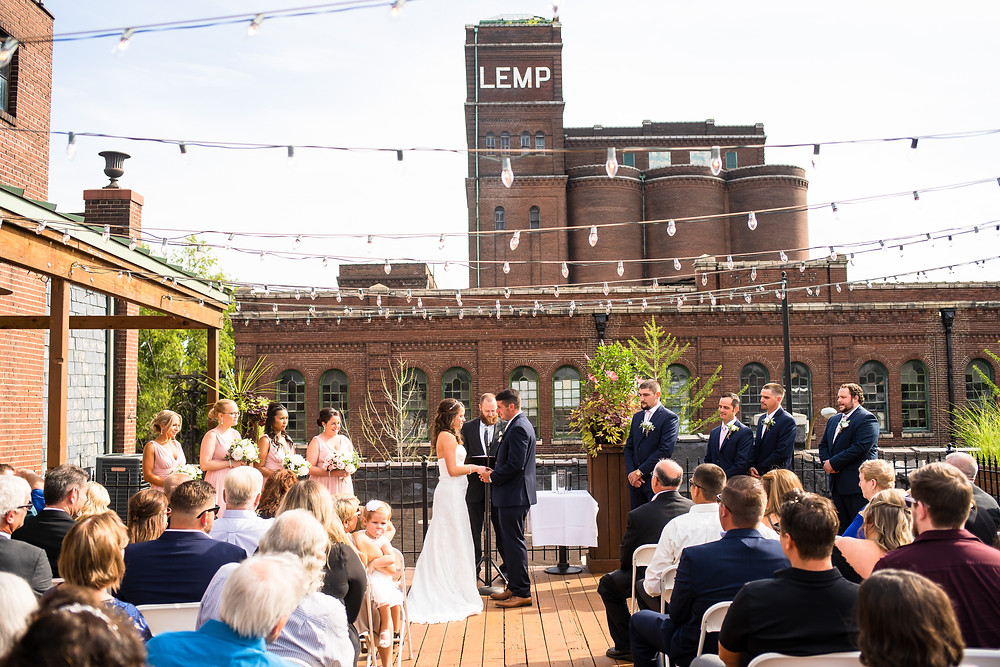 ceremony at lamp grand hall