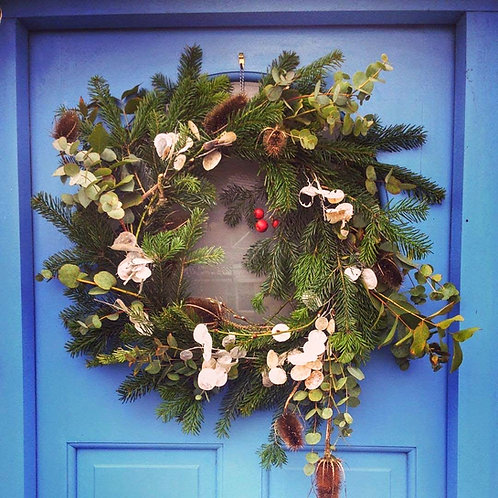Eco Rebel Christmas Door Wreath