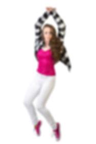 Portrait ofa girl Dancing on her toes