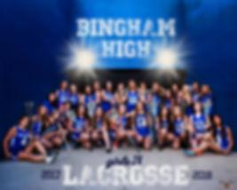 Portrait of a high school Girls Lacrosse Team